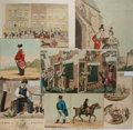 """Books:Prints & Leaves, [Antique Prints] Lot of Nine Antique English Humorous ColorLithographs. Various sizes from 5.5"""" x 8"""" to 15"""" x 12.5"""". Very g..."""