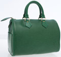 Luxury Accessories:Accessories, Louis Vuitton Green Epi Leather Speedy 25 Bag. ...