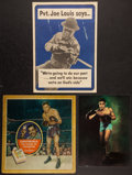 Boxing Collectibles:Memorabilia, 1942 Joe Louis World War II Propaganda Poster and Chesterfield Broadside....
