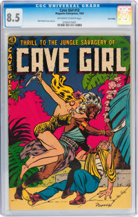 Cave Girl #12 Lost Valley pedigree (Magazine Enterprises, 1953) CGC VF+ 8.5 Off-white to white pages