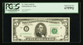 Small Size:Federal Reserve Notes, Low Serial Number J00000019A Fr. 1969-J $5 1969 Federal Reserve Note. PCGS Superb Gem New 67PPQ.. ...