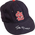 Baseball Collectibles:Uniforms, Early 1960's Stan Musial Game Worn St. Louis Cardinals Cap....