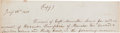Autographs:Military Figures, Meriwether Lewis Partial Autograph Document Signed in the Third Person....