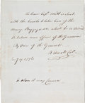 Autographs:Military Figures, [Revolutionary War]. Benedict Arnold Autograph Document Signed...
