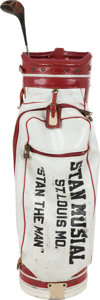 Baseball Collectibles:Others, 1970's Stan Musial Match Used Golf Bag & Driver....