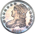 Bust Half Dollars, 1834 50C Small Date, Small Letters MS63 Prooflike NGC. O-109,R.1....