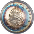Proof Seated Quarters, 1870 25C PR66 Cameo NGC....