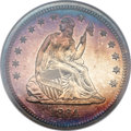 Proof Seated Quarters, 1864 25C PR65 Cameo NGC....