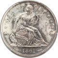 Seated Half Dollars, 1861-O 50C MS64 PCGS....