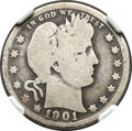Barber Quarters, 1901-S 25C Good 4 NGC....