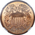 Proof Two Cent Pieces, 1871 2C PR65+ Red NGC....