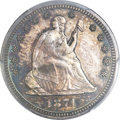 Proof Seated Quarters, 1874 25C Arrows PR64 PCGS....