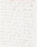 Autographs:Celebrities, Martin Luther King, Jr., Autograph Draft from Chapter IX of His Book, Stride Toward Freedom, with Edits.... (Total: 2 Items)