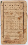 Books:Americana & American History, [Almanac]. Isaac Bickerstaff. The New-England Almanack or Lady'sand Gentleman's Diary for the Year of Our Lord Christ 1...