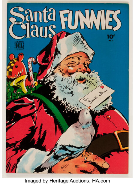 Santa Claus Funnies #2 (Dell, 1943) Condition: VF....