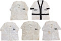 Boxing Collectibles:Memorabilia, 1986-88 Michael Spinks Training/Fight Worn Corner Jackets Lot of 5. ...