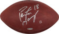 Football Collectibles:Balls, Circa 1999 Peyton Manning Game Used, Signed Upper Deck Authenticated Football - Numbered 1/1....