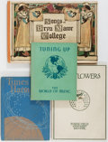 Books:Music & Sheet Music, [Music]. Group of Four. Various publishers, ca. 1930's. Includes Songs of Bryn Mawr College, Tuning Up, Tunes and Harmonie... (Total: 4 Items)