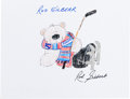 Autographs:Others, Rod Gilbert: Hockey Player's Doodle for Hunger. BenefitingSt Francis Food Pantries and Shelters. ...