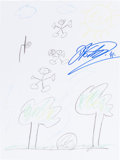 Autographs:Others, Dirk Nowitzki: Basketball Player's Doodle for Hunger.Benefiting St. Francis Food Pantries and Shelters. ...