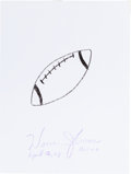 Autographs:Others, Warren Moon: Football Player's Doodle for Hunger. BenefitingSt Francis Food Pantries and Shelters. ...