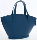 Luxury Accessories:Bags, Louis Vuitton Blue Epi Leather St. Jacques PM Tote Bag. ...