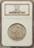Bust Half Dollars: , 1833 50C AU53 NGC. O-108. NGC Census: (103/865). PCGS Population(118/759). Mintage: 5,206,000. Numismedia Wsl. Price for p...