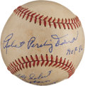 Autographs:Baseballs, Robert Pershing Doerr Single Signed Baseball With Lengthy Inscription (Cronin Baseball!)....