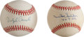 "Autographs:Baseballs, Duke Snider ""407 HR"" And Dolph Camilli Single Signed BaseballLot...."