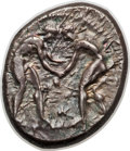 Ancients:Greek, Ancients: PAMPHYLIA. Aspendus. Ca. 380/75-330/25 BC. AR stater(10.94 gm)....