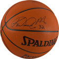 Basketball Collectibles:Balls, Karl Malone Signed Team Issued Utah Jazz Basketball....