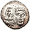Ancients:Greek, Ancients: MOESIA. Istrus. Ca. 4th Century BC. AR drachm (4.86gm)....