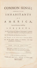 Books:Americana & American History, [Thomas Paine]. Common Sense; Addressed to the Inhabitants of America... The Third Edition. Philadelphia; Printe...
