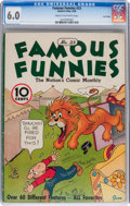 Platinum Age (1897-1937):Miscellaneous, Famous Funnies #23 Lost Valley pedigree (Eastern Color, 1936) CGCFN 6.0 Cream to off-white pages....