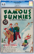 Platinum Age (1897-1937):Miscellaneous, Famous Funnies #19 Lost Valley pedigree (Eastern Color, 1936) CGCVG 4.0 Slightly brittle pages....