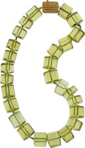 Estate Jewelry:Necklaces, Christopher Walling Prasiolite, 18k Gold Necklace. ...