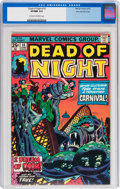 Bronze Age (1970-1979):Horror, Dead of Night #10 Stan Lee File Copy (Marvel, 1975) CGC VF/NM 9.0Cream to off-white pages....