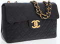 Luxury Accessories:Bags, Chanel Black Quilted Lambskin Leather Maxi Flap Bag with Gold Hardware. ...