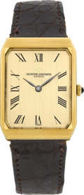 Timepieces:Wristwatch, Vacheron & Constantin Ref. 39207 Gent's Gold & Onyx Wristwatch. ...
