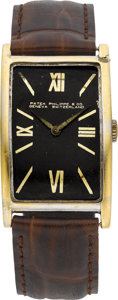 Timepieces:Wristwatch, Patek Philippe & Co. Vintage White Gold Rectangle Wristwatch,circa 1920. ...