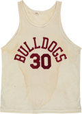 """Basketball Collectibles:Uniforms, 1986 """"Hoosiers"""" Movie Worn Bulldogs Jersey and Shorts...."""