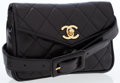Luxury Accessories:Bags, Chanel Black Quilted Lambskin Leather Belt Bag with Gold CCTurnlock. ...