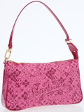 Luxury Accessories:Bags, Louis Vuitton Limited Edition Pink Glossy Leather Cosmic BlossomPochette Bag. ...