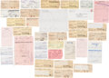 Autographs:Others, Stan Musial Signed Receipts Lot of 20+....