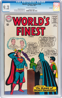 World's Finest Comics #149 Savannah pedigree (DC, 1965) CGC NM- 9.2 Off-white to white pages