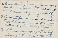 Martin Luther King, Jr., Autograph Notecards (8) Containing Notes for a Speech, circa Decemb