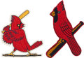 Baseball Collectibles:Others, 1940's-50's St. Louis Cardinals Uniform/Jacket Patches....