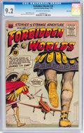 Golden Age (1938-1955):Science Fiction, Forbidden Worlds #38 River City pedigree (ACG, 1955) CGC NM- 9.2Off-white to white pages....