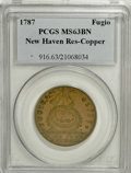 Colonials, 1787 1C Fugio Cent, New Haven Restrike, Copper MS63 Brown PCGS....