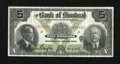 Canadian Currency: , Montreal, PQ- Bank of Montreal $5 Jan. 2, 1923 Charlton 505-56-02....